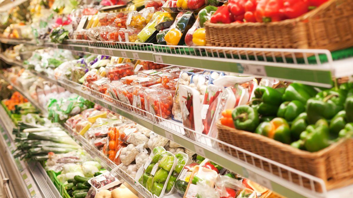 Gemüse im Supermarkt.