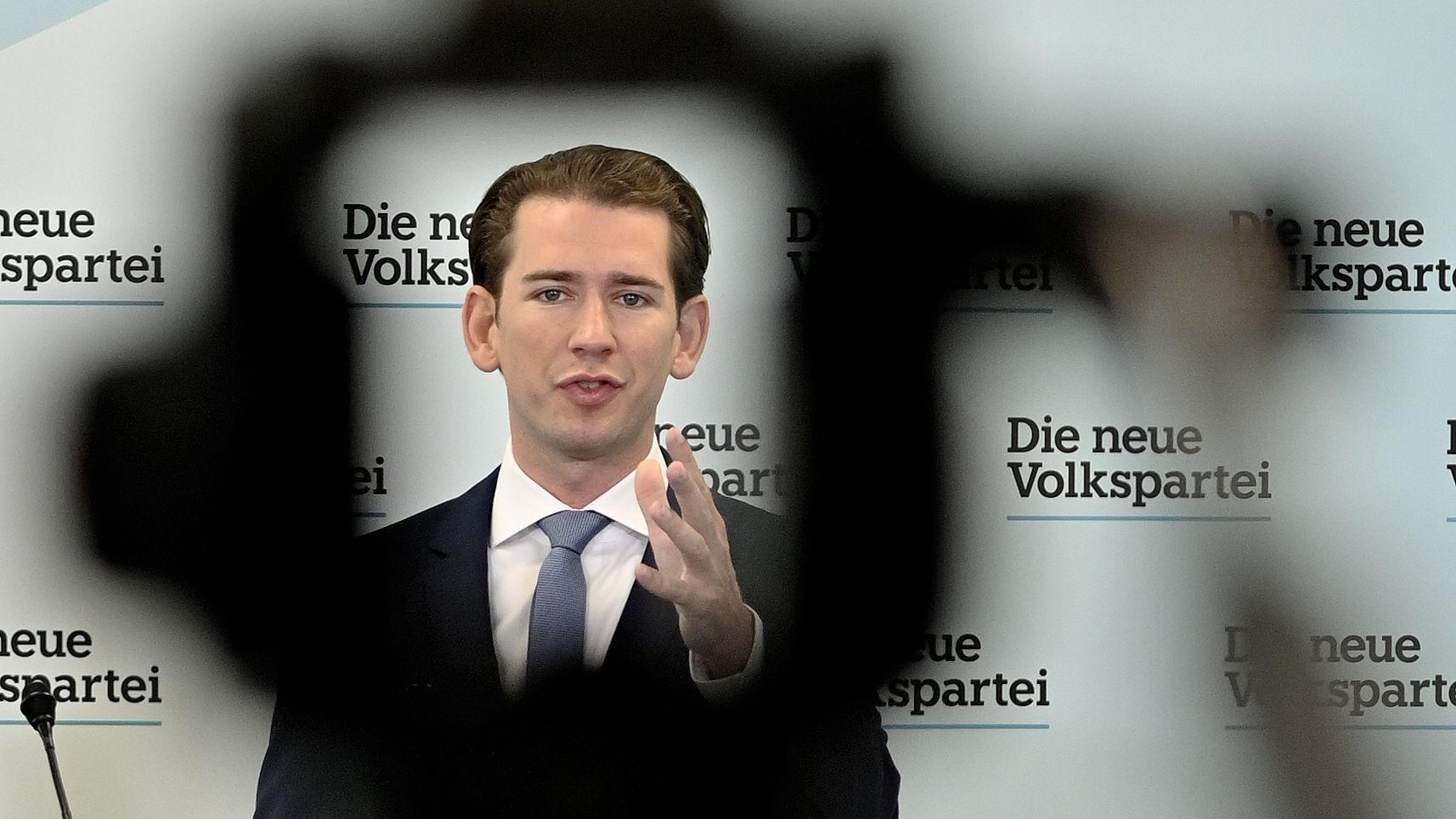 """ÖSTERREICH: ÖVP-Chef Sebastian Kurz am Montag, 16. September 2019, im Rahmen der Pressekonferenz """"100 Projekte für Österreich"""