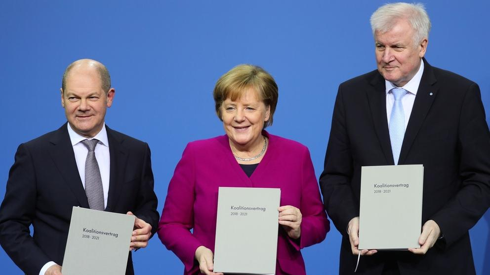 Unterzeichnung Koalitionsvertrag | Bild:picture-alliance/dpa
