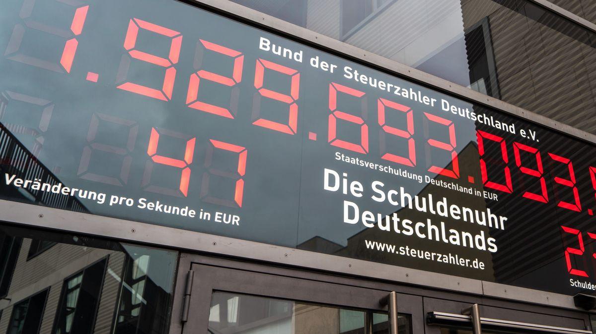 Schuldenuhr des Bund der Steuerzahler Deutschland im Januar 2020