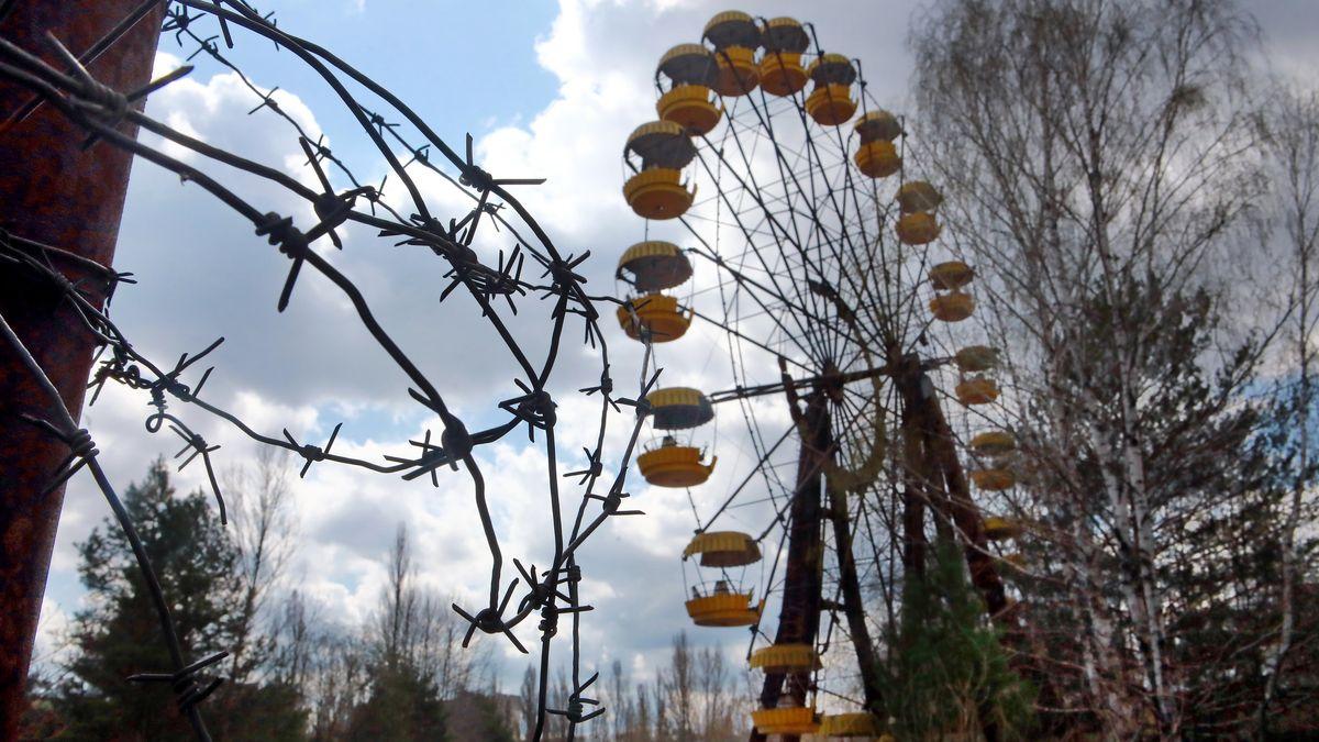 Das Riesenrad im Vergnügungspark der Geisterstadt Prypiat nahe Tschernobyl.