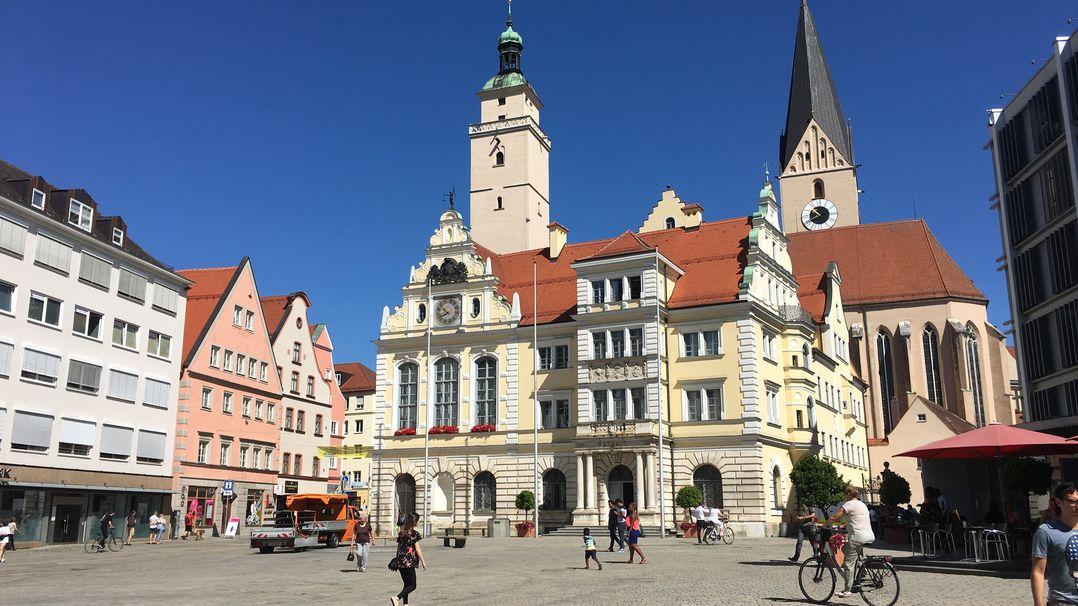 Die City von Ingolstadt