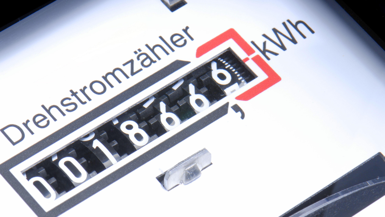 Stromzähler im Diagonalschnitt-Bild