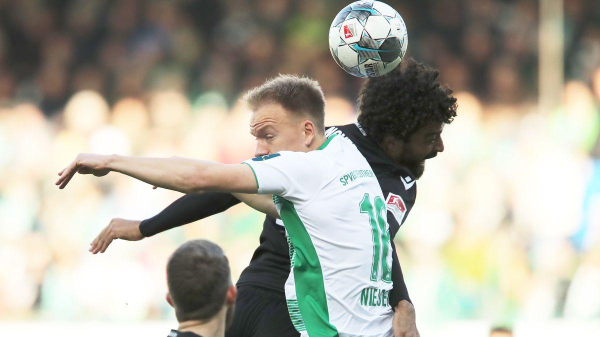 Spielszene SpVgg Greuther Fürth - Hannover 96