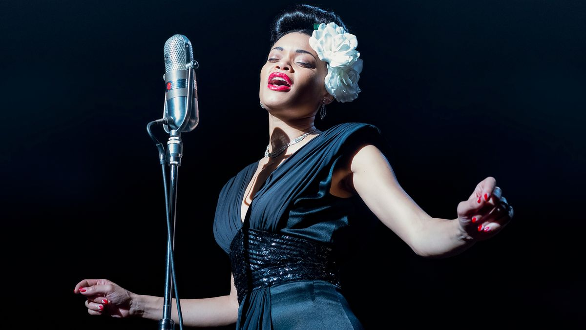 """Andra Day als Billie Holiday in """"The United States vs Billie Holiday"""" (Filmszene)"""