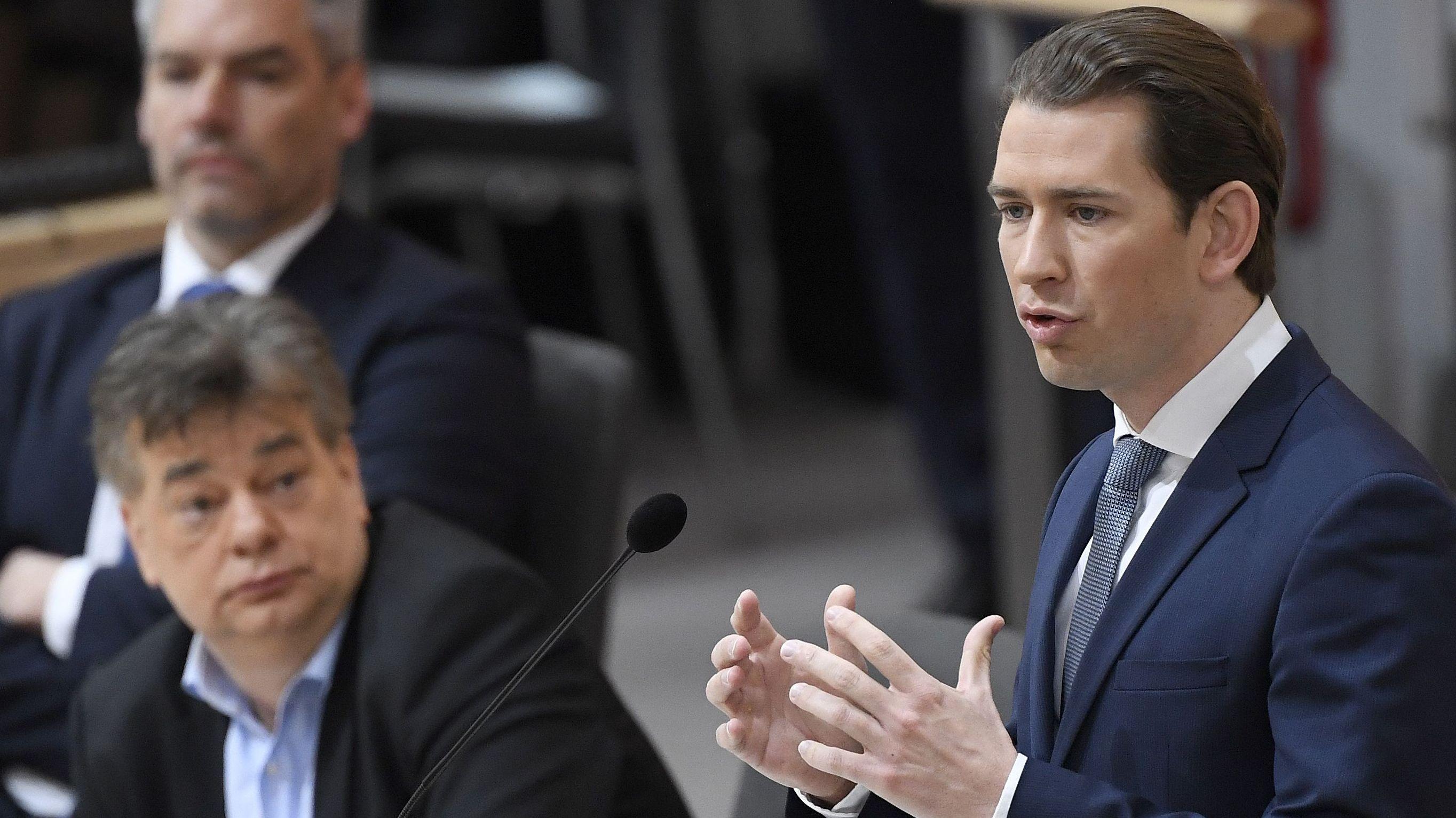 Der österreichische Kanzler Kurz kündigt im Nationalrat neue Maßnahmen an
