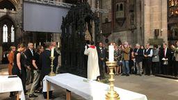 Öffnung des Sebaldusgrabes in Nürnberg | Bild:BR/Ulrike Lefherz