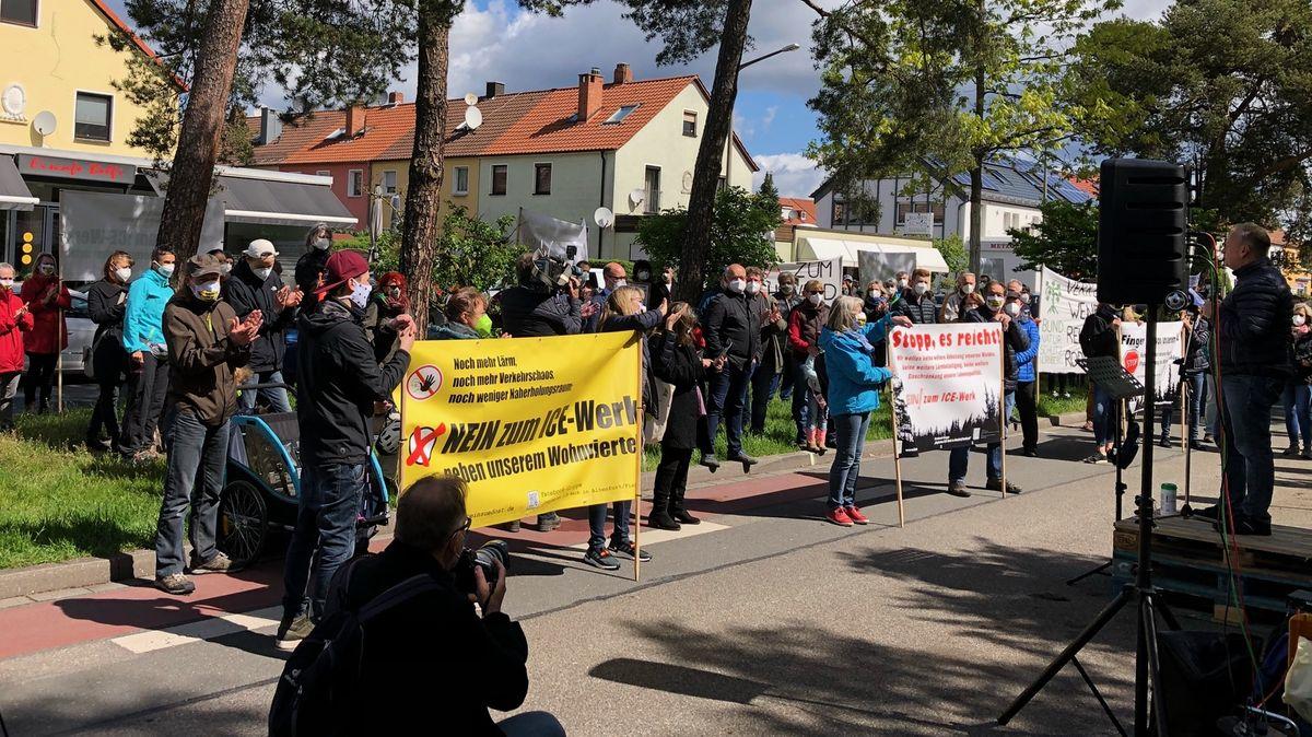 Demonstration in Fischbach