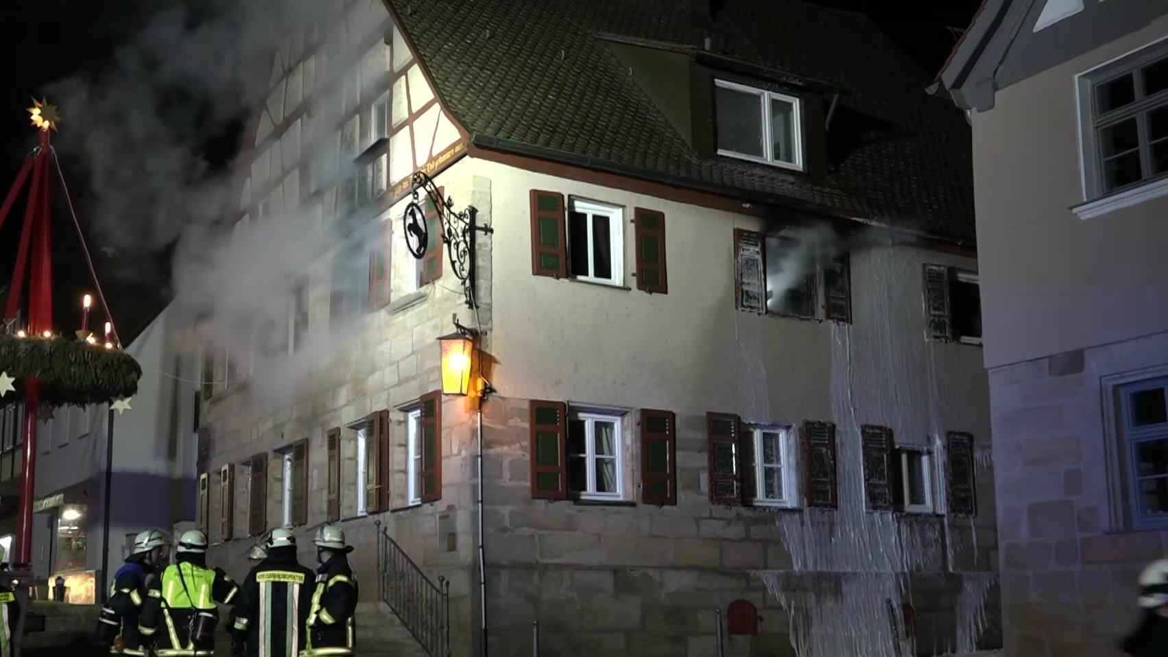 Brennendes Haus in Cadolzburg