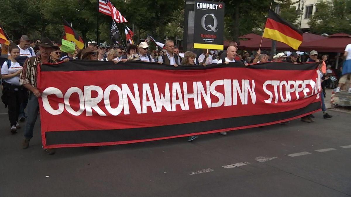 Demonstration in Berlin am 29.08.2020 gegen die Corona-Politik.