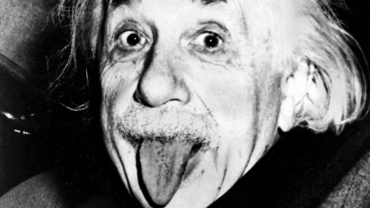 Portrait Einstein Albert 14.3.1879 - 18.4.1955 Zunge rausstreckend