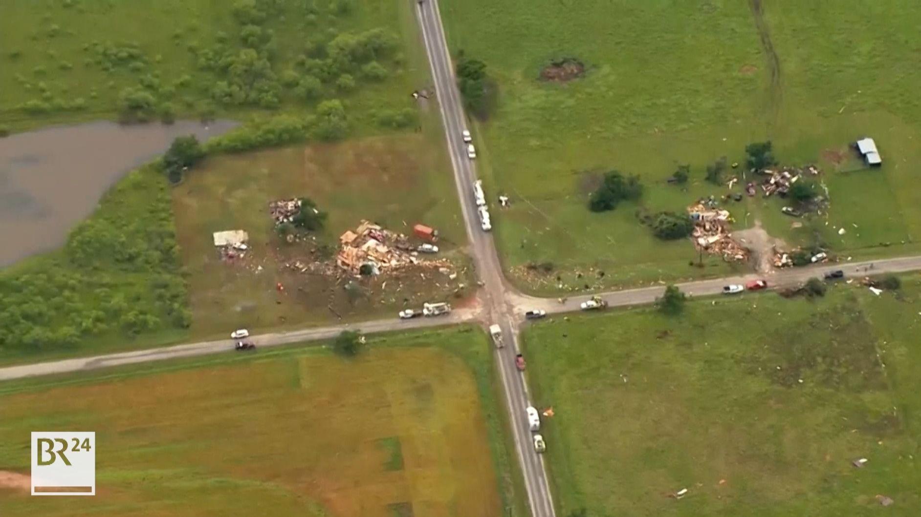 Ein Tornado hat Häuser in Oklahoma komplett zerstört.