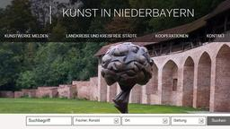 Ausschnitt der Homepage Kunst in Niederbayern | Bild:Bezirk Niederbayern