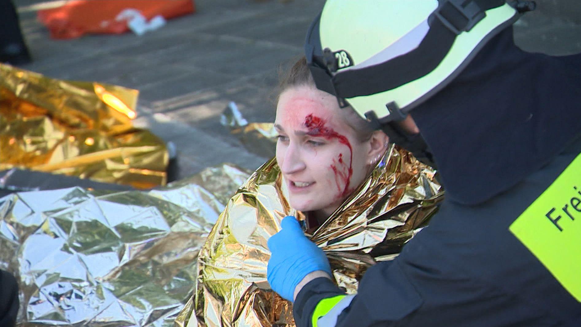 Katastrophenschutzübung in Nürnberg