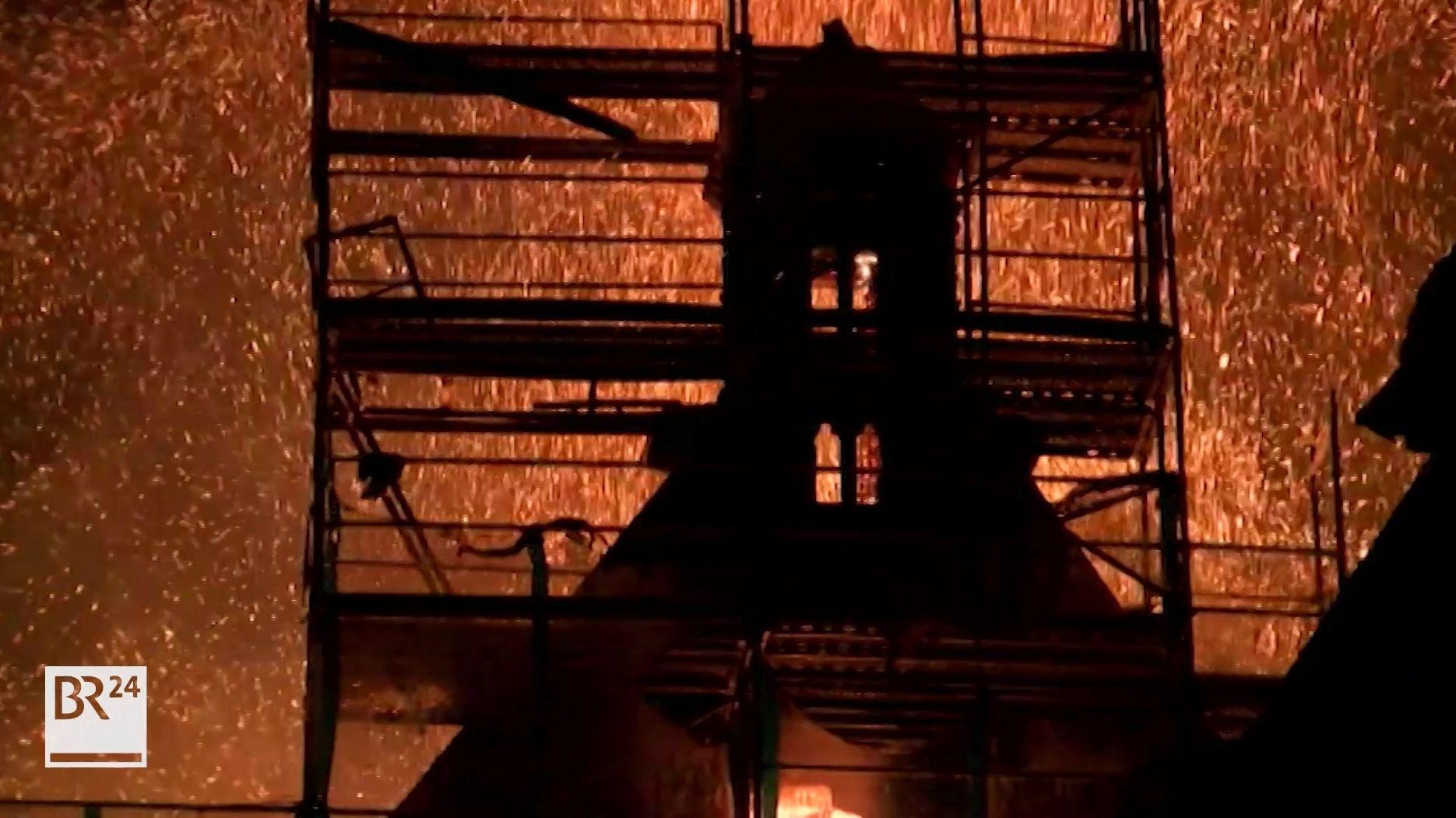 Brand St. Martha in Nürnberg vor fünf Jahren