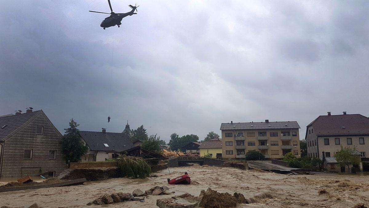 Zerstörungen in Simbach am Inn 2016