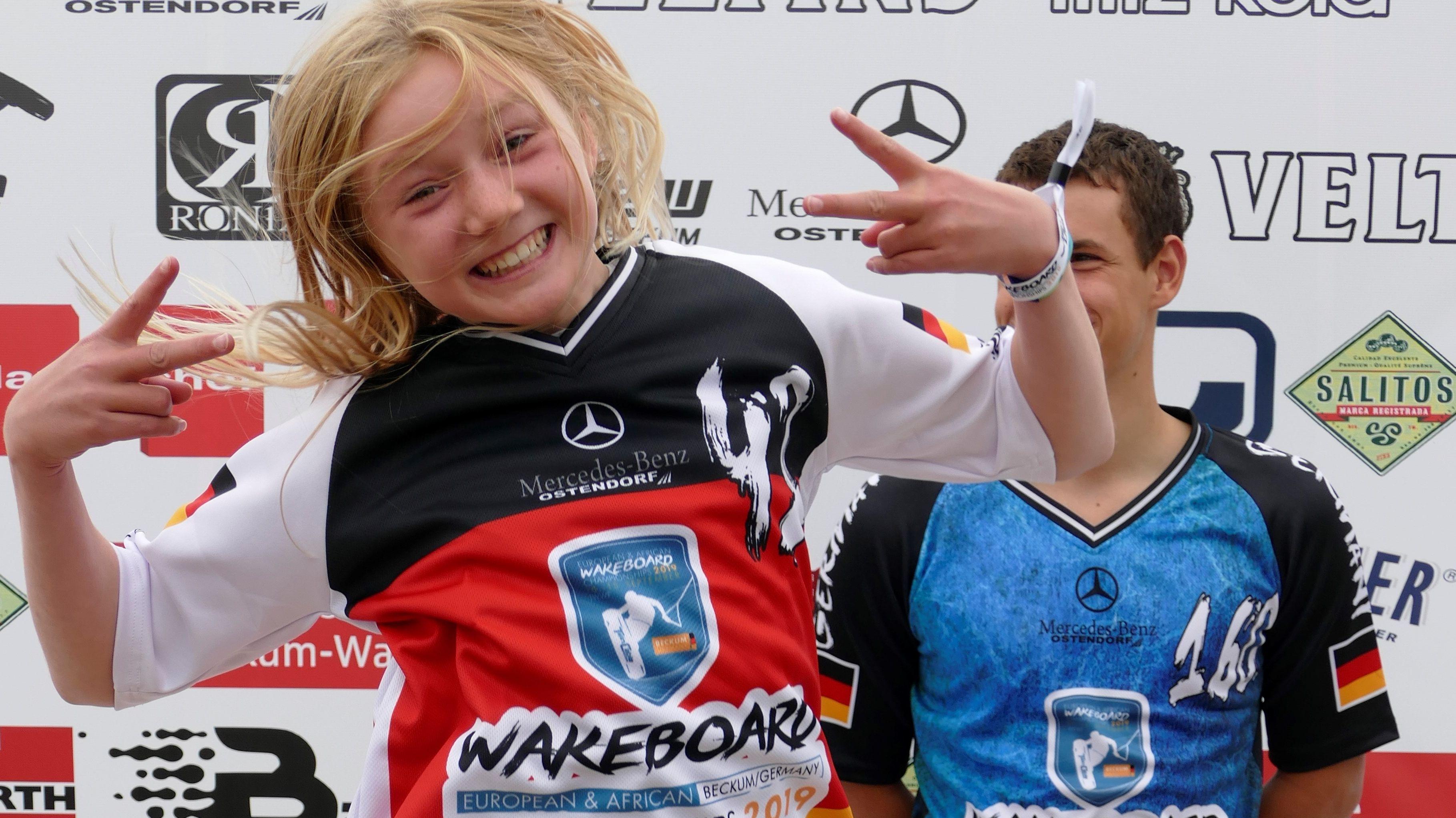 Alessia Klingenbrunn bei der Wakeboard-Europameisterschaft.