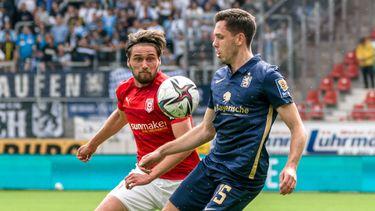 3. Liga: Hallescher FC - TSV 1860 München, Spielszene