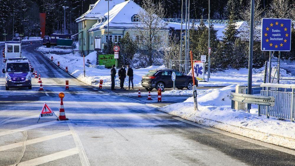 Die Bundespolizei kontrolliert an der Grenze zu Tschechien bei Philippsreuth