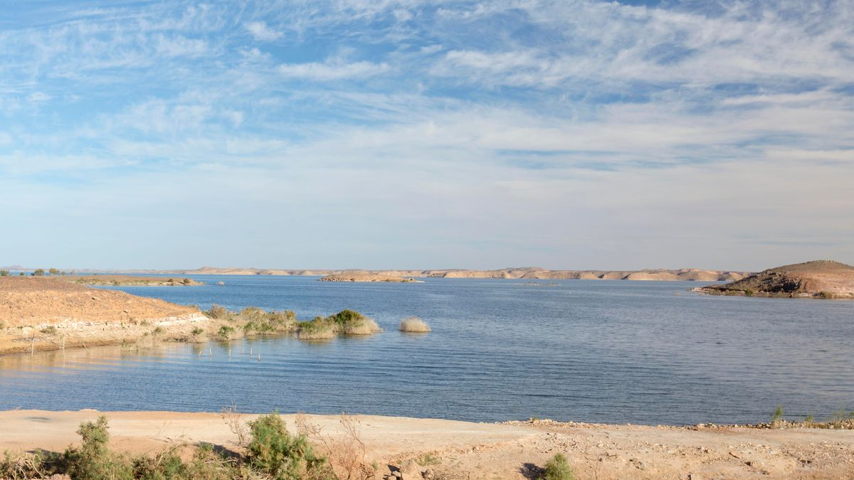 Lake Nasser in Ägypten
