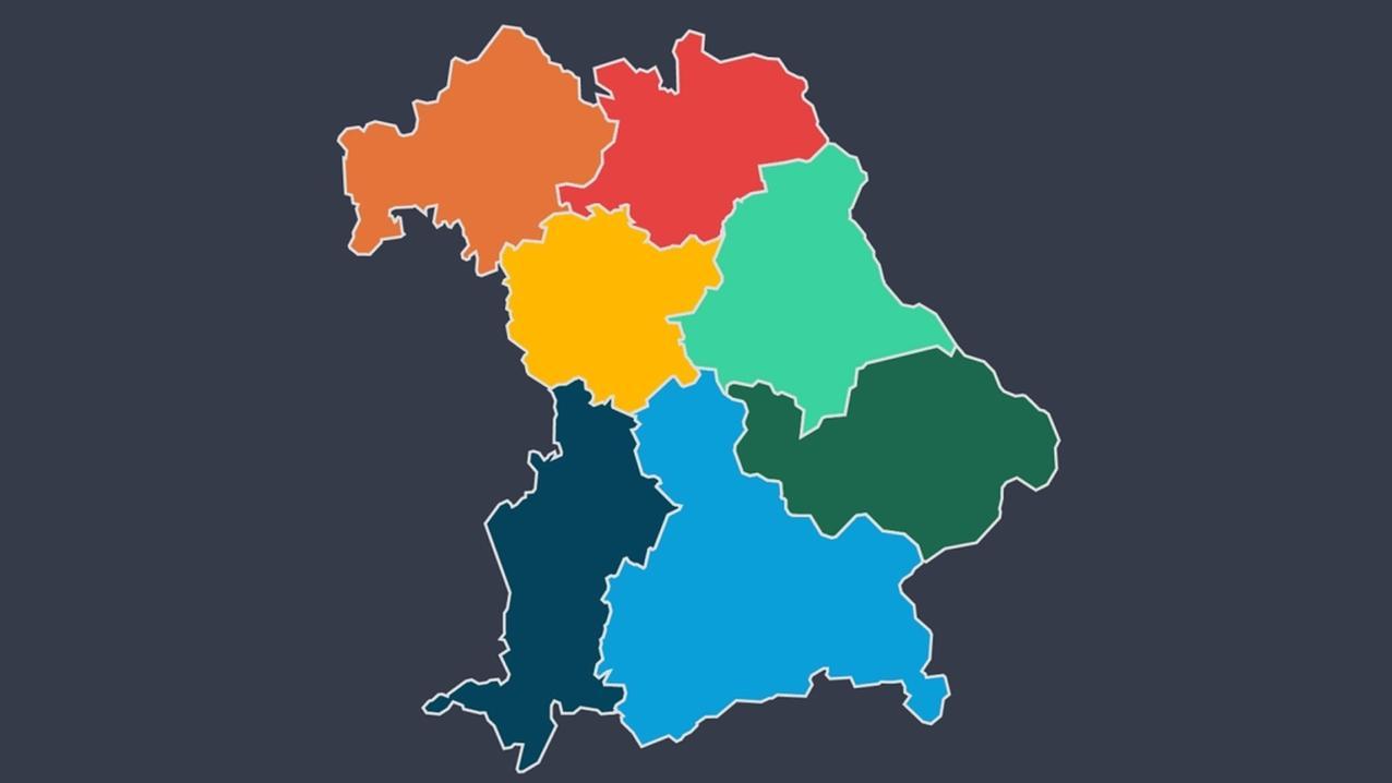 In Bayern tritt jede Partei mit Bezirkslisten an