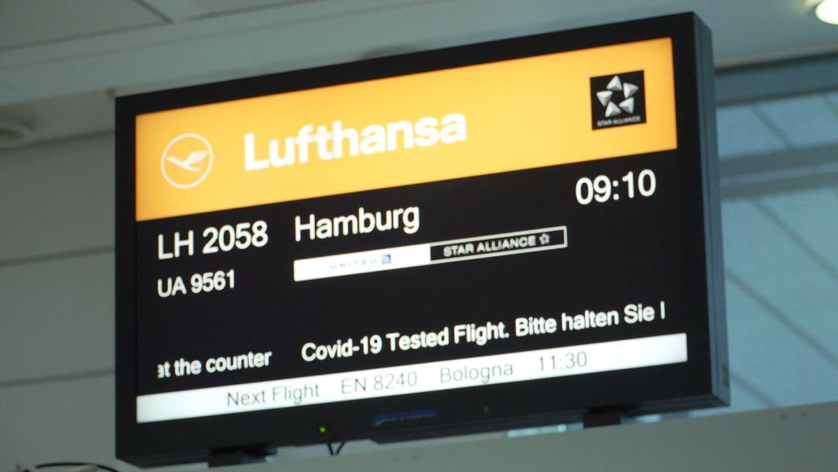 Probelauf der Lufthansa: Nur Passagiere mit negativem Corona-Test dürfen an Bord.