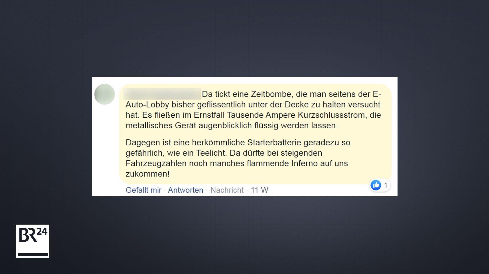 User Kommentar auf BR24-Facebookseite