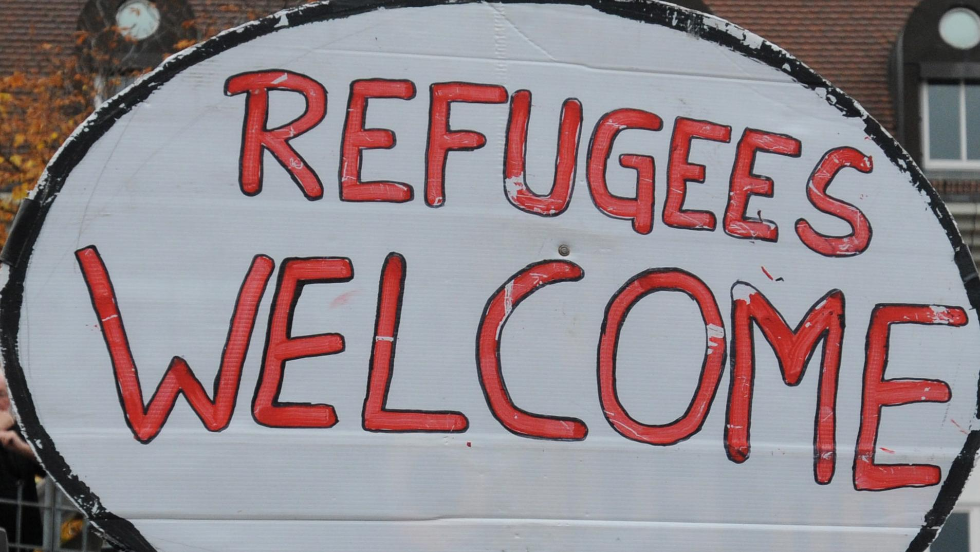 "Plakat ""Refugees welcome"""