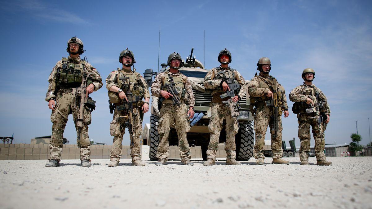 Soldaten der Bundeswehr in der Provinz Kundus im Nordosten von Afghanistan.