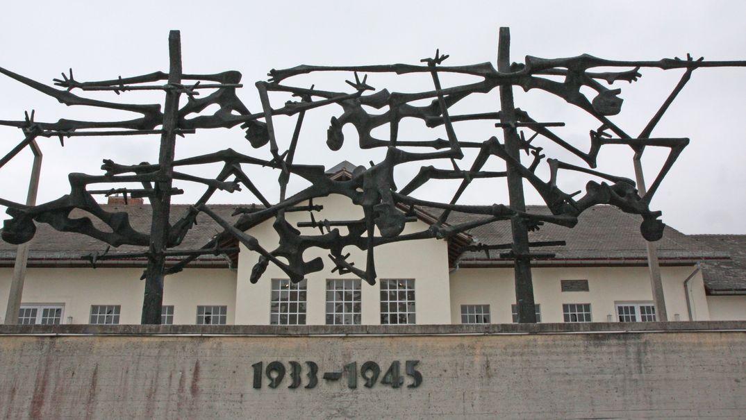 Mahnmal in der KZ-Gedenkstätte Dachau.
