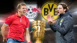 Leipzigs Julian Nagelsmann und Dortmunds Edin Terzic | Bild:picture-alliance/dpa
