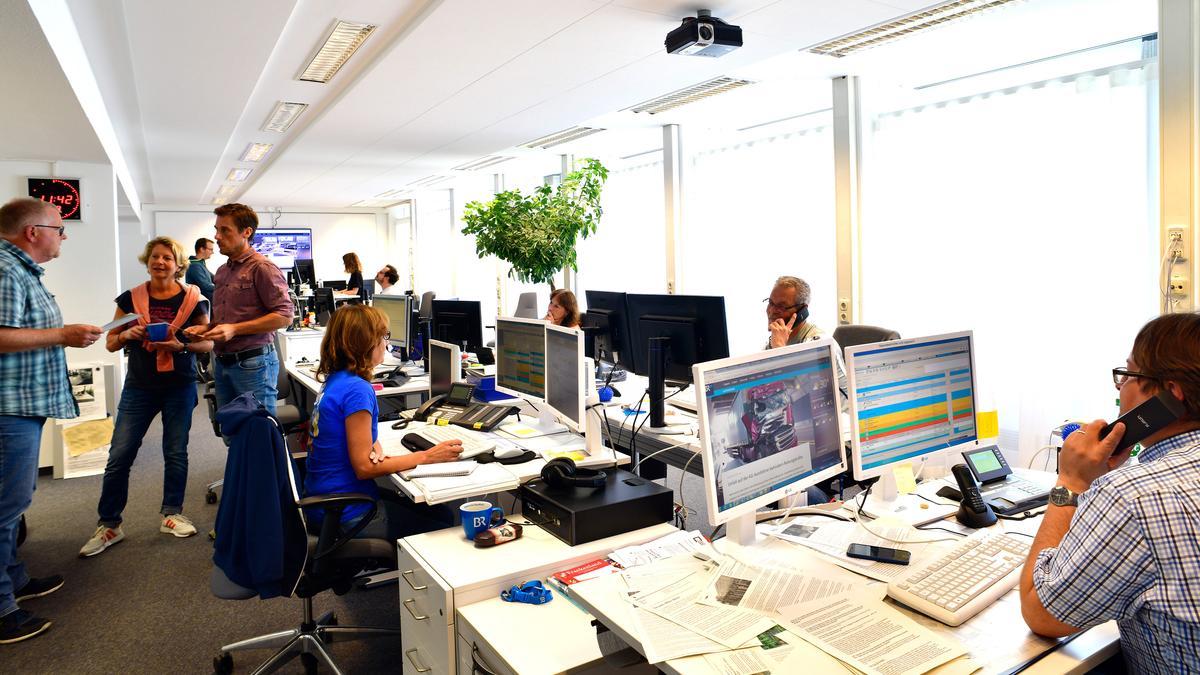 Blick in den Würzburger Newsroom