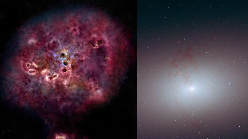 Geburt und Tod einer Galaxie