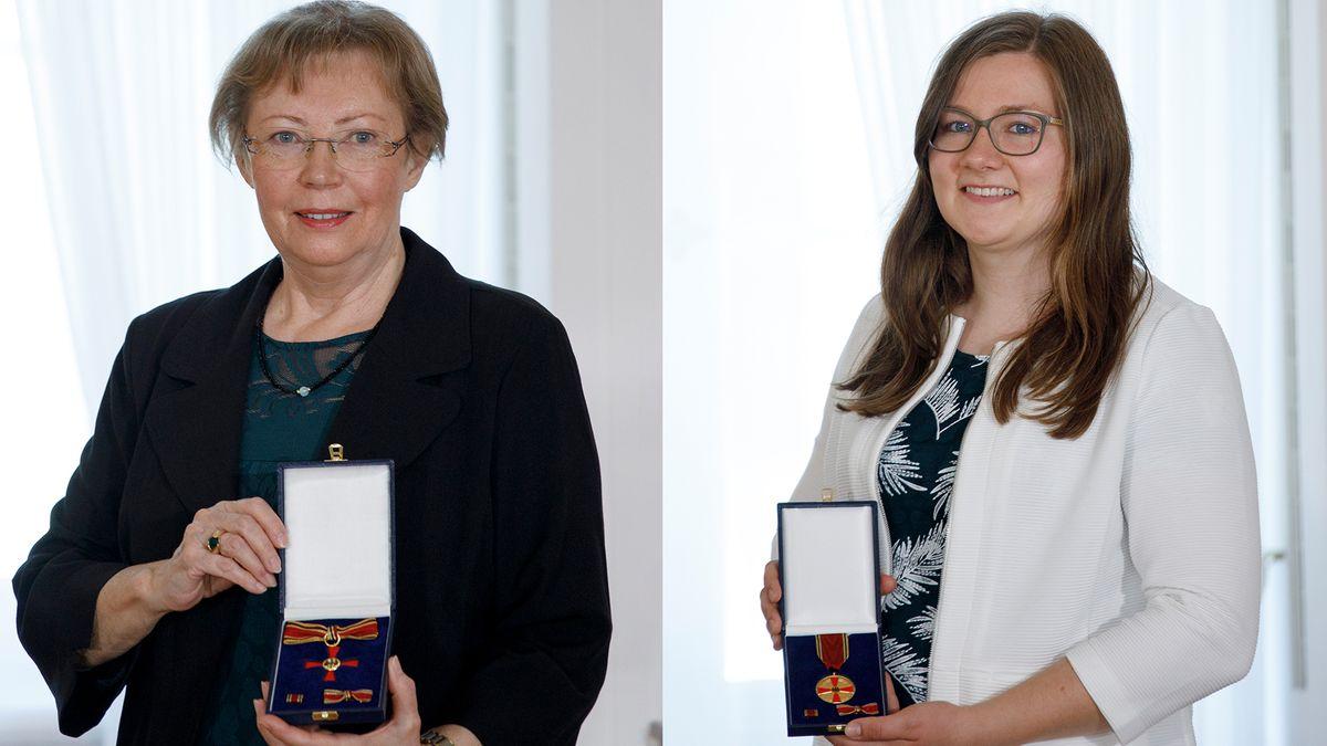 Juliane Diller (li.) und Stefanie Propp (re.) sind mit dem Verdienstorden der Bundesrepublik Deutschland ausgezeichnet worden.