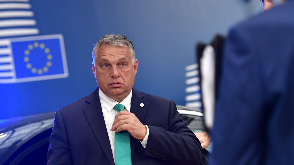 Viktor Orban am 17.07.2020 in Brüssel.