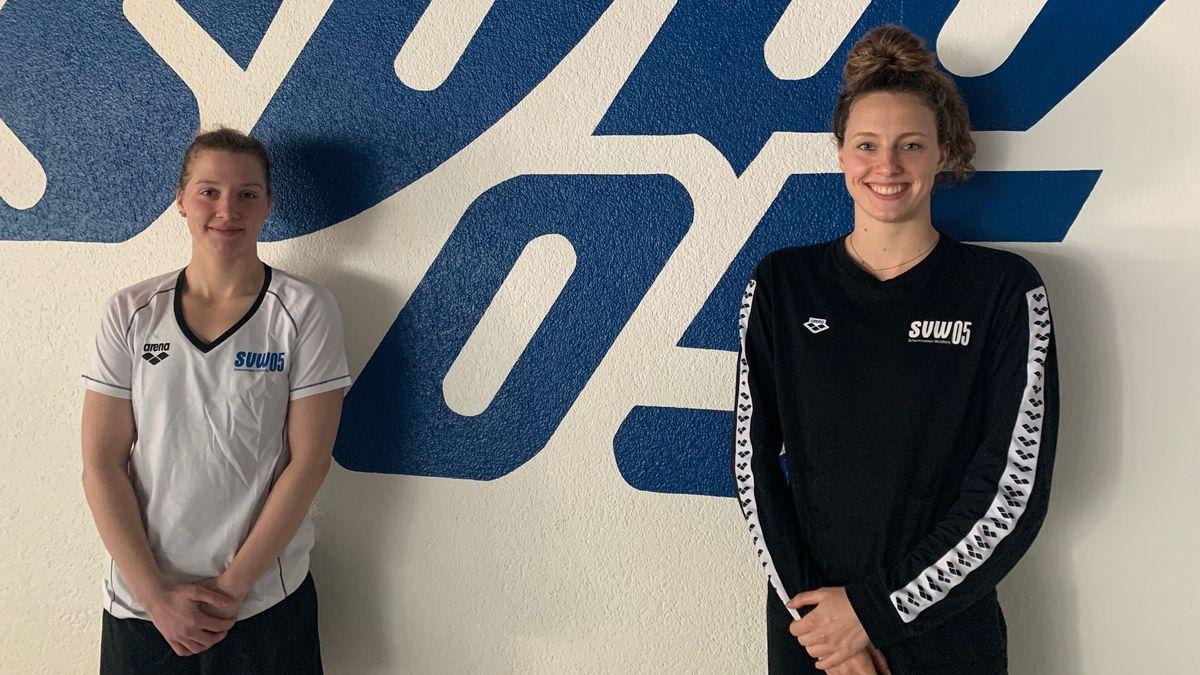 Die Würzburger Schwimmerinnen Lea Boy (links) und Leonie Beck (rechts) freuen sich auf den Freiwasser-Weltcup in Doha.