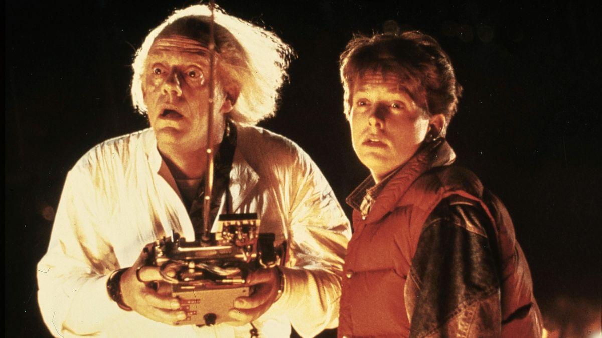 """Als """"Marty McFly"""" an der Seite von Christopher Lloyd (links)"""
