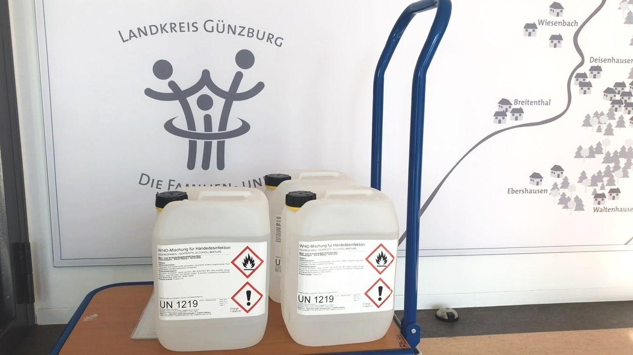 Desinfektionsmittel für die Kirchen