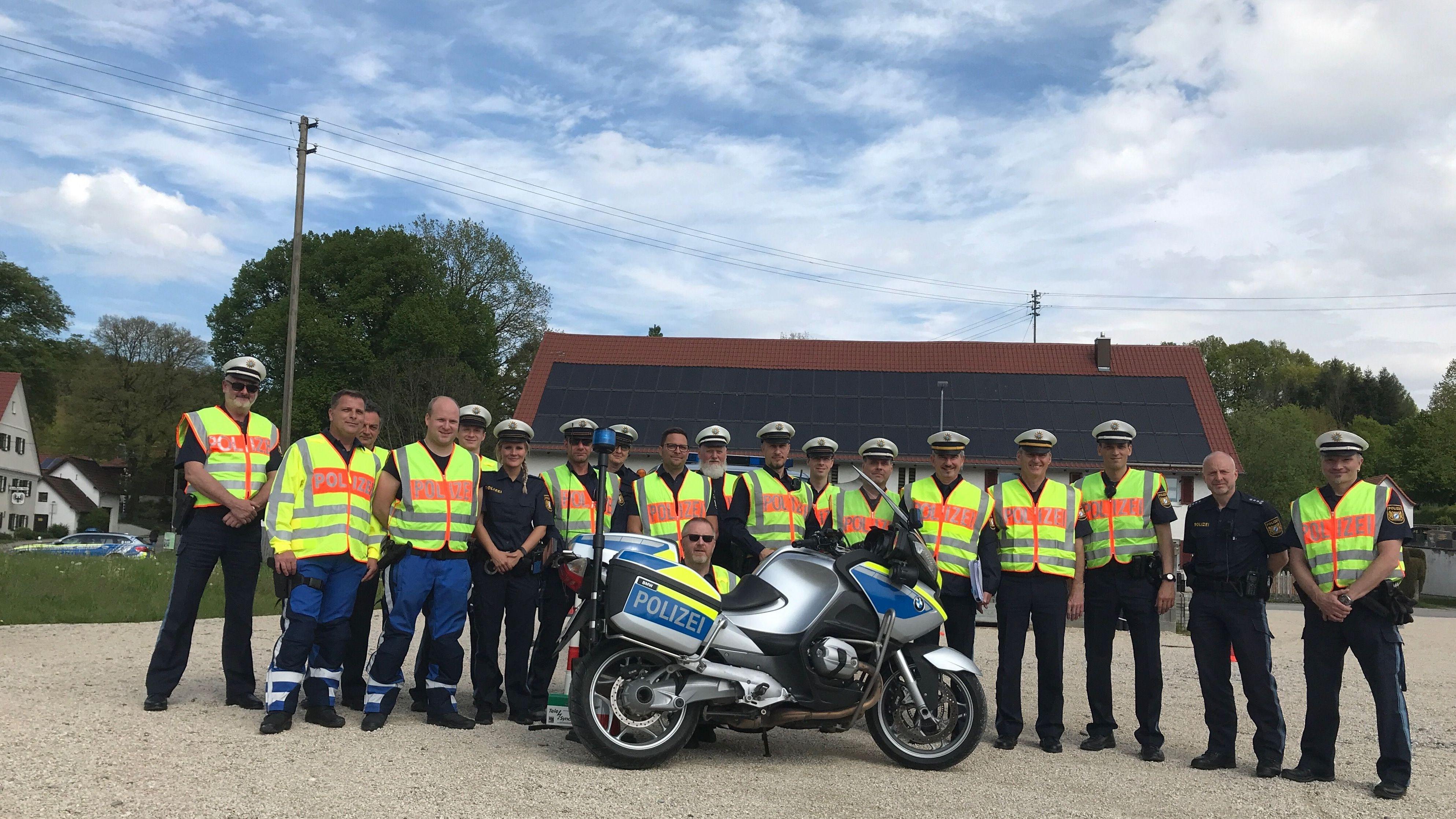 Motorradkontrollgruppe der Augsburger Polizei