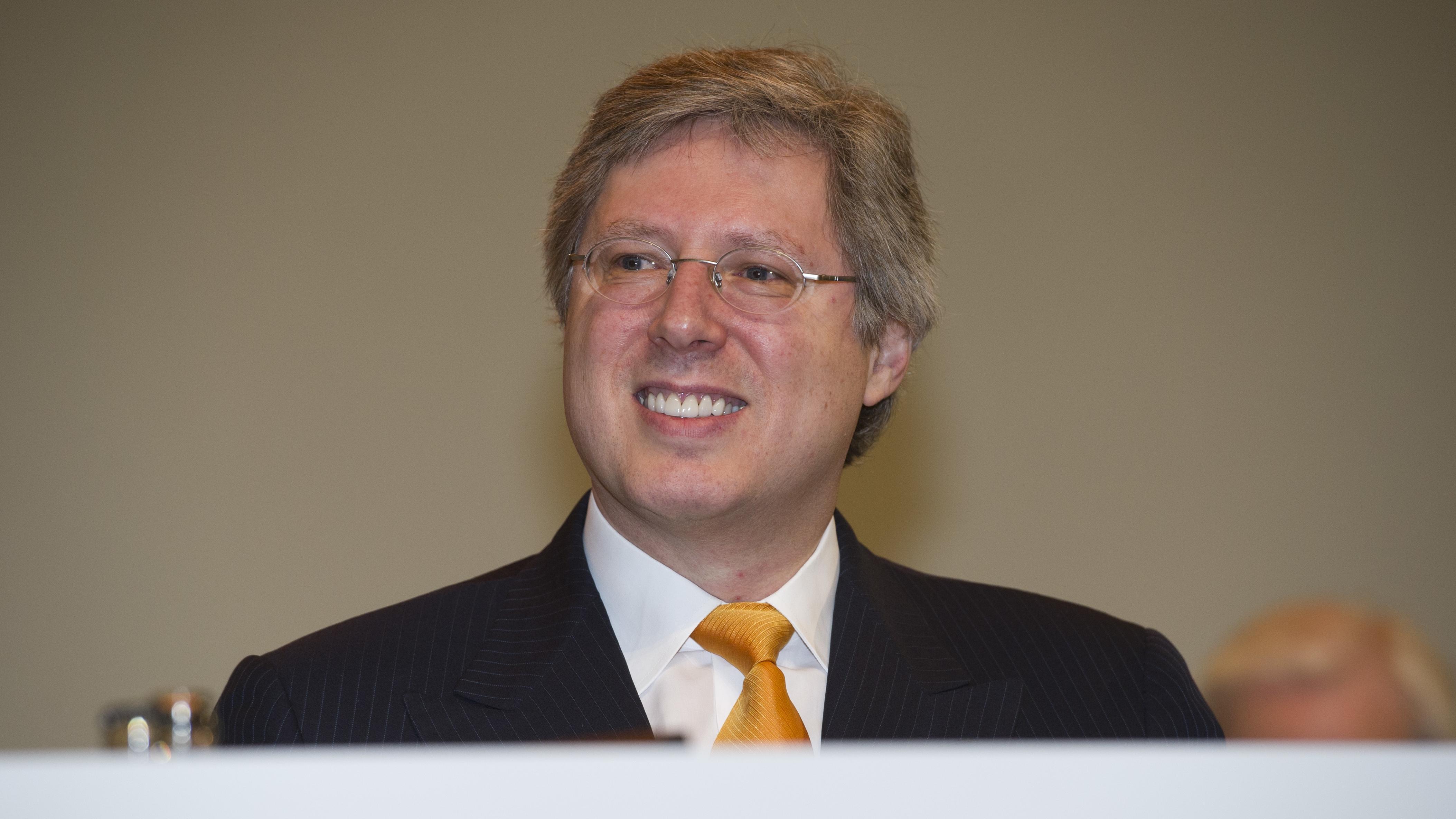 Georg Schaeffler auf einer Hauptversammlung der Continental AG.