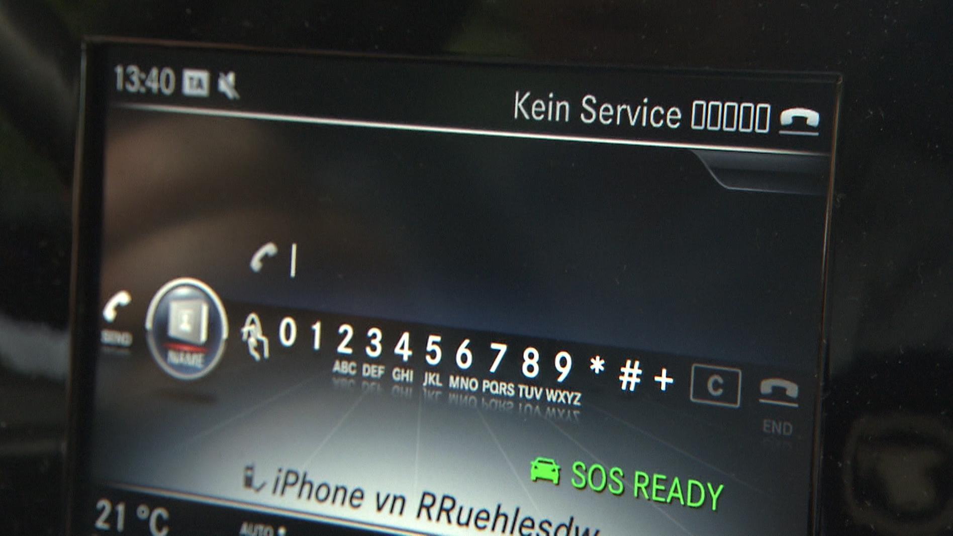 Display zeigt fehlenden Mobilfunkempfang an