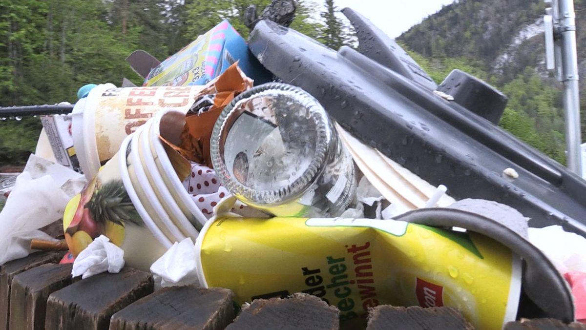 Füssen hat ein Problem mit Müll, denn der landet oft dort, wo er nicht hingehört.