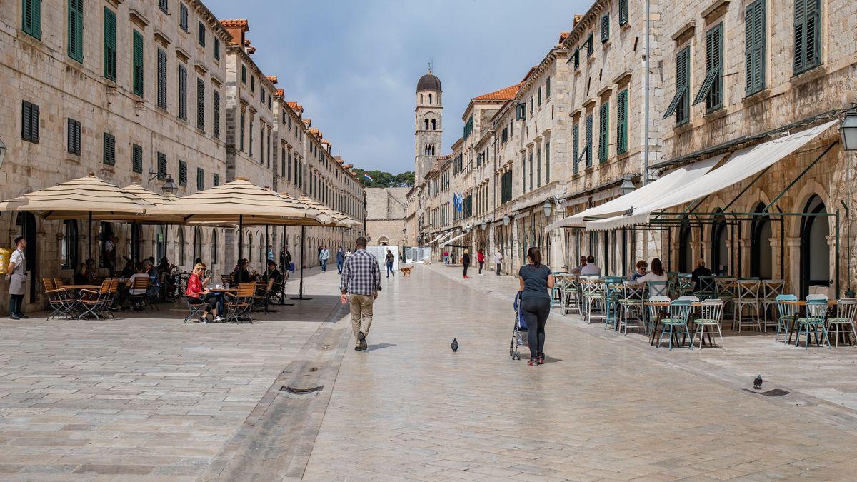 Leere Straßen in Dubrovnik