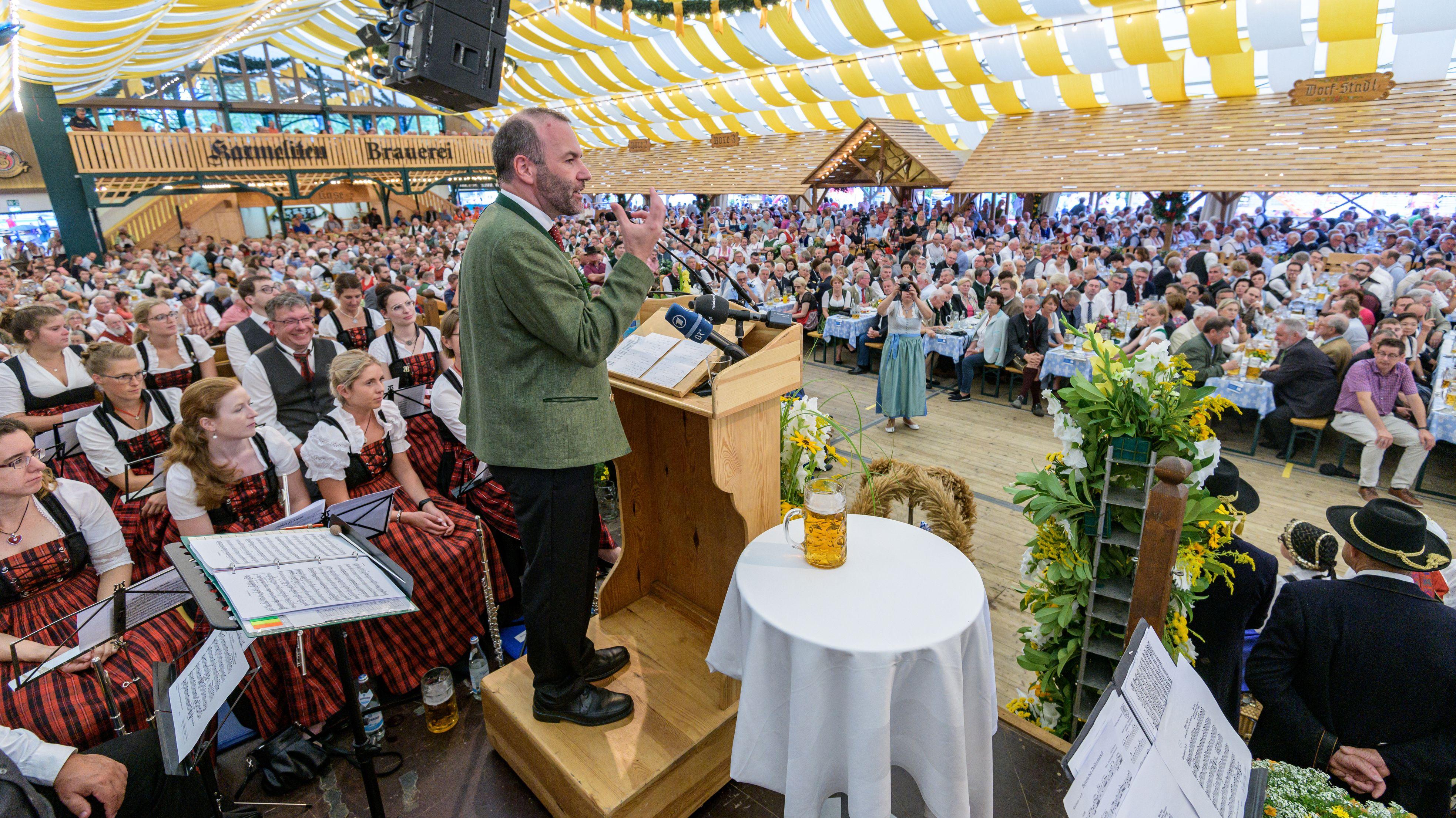 Manfred Weber während seiner Rede.