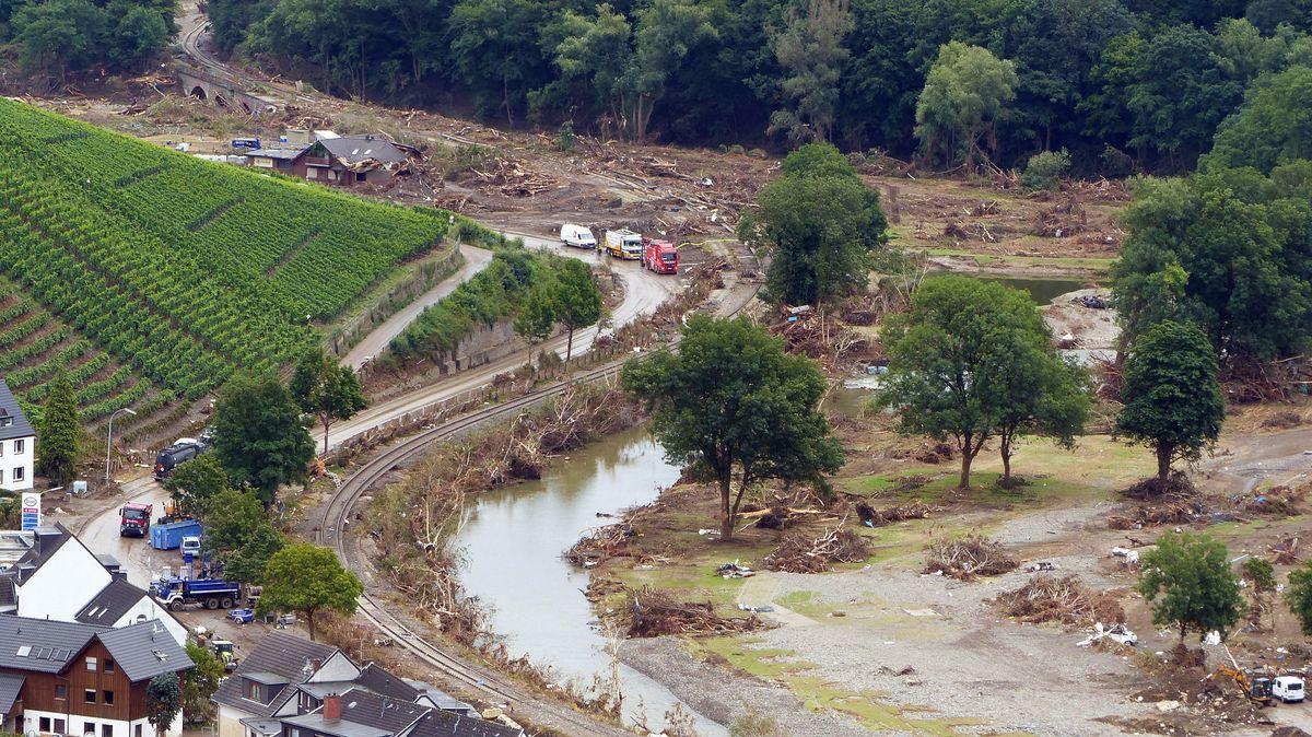 Schäden nach der Flut in Dernau/Eifel