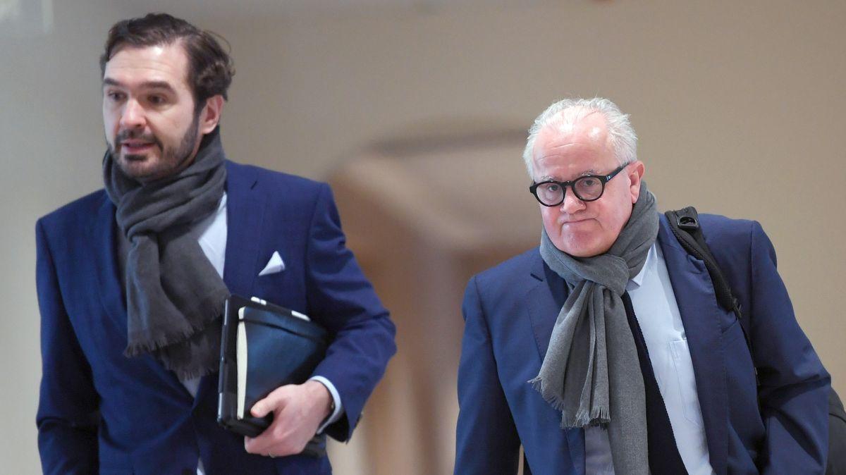Getriebene: DFB-Präsident Fritz Keller (r.) und Generalsekretär Friedrich Curtius