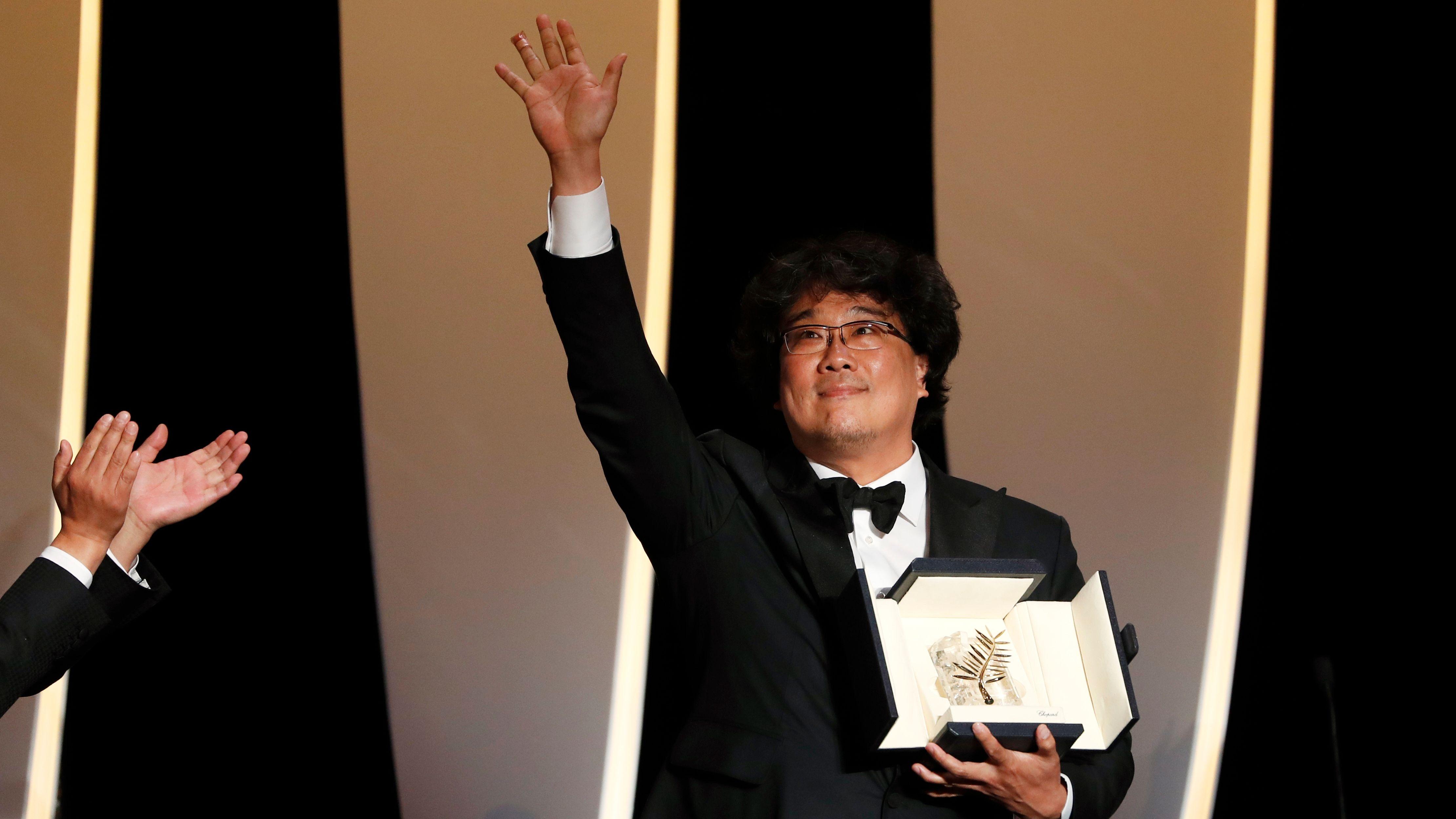 "Die Goldene Palme des Filmfestivals Cannes geht an den gesellschaftskritischen Thriller ""Parasite"" des Südkoreaners Bong Joon-ho."