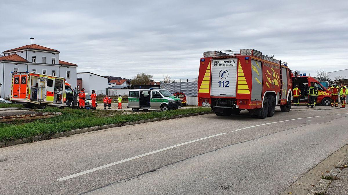 Feuerwehreinsatz am Schrottplatz in Hohenpfahl