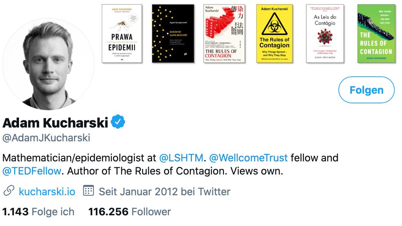 Twitter-Profil von Adam Kucharski