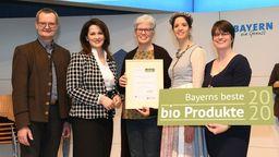 Verleihung Bayerns beste Bioprodukte auf der Grünen Woche Berlin | Bild:LVÖ Bayern/Christoph Assmann